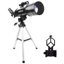 AOMEKIE F40070M Astronomical Telescope Moon Bird Watching HD Telescope with Compact Tripod&Phone Holder Gift for Kids Beginner