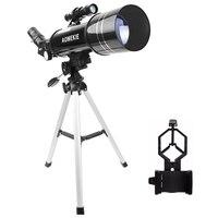 AOMEKIE F40070M Sternenteleskop Mond Vogelbeobachtung HD Teleskop mit Kompaktes Stativ & Handyhalter Geschenk für Kinder Anfänger