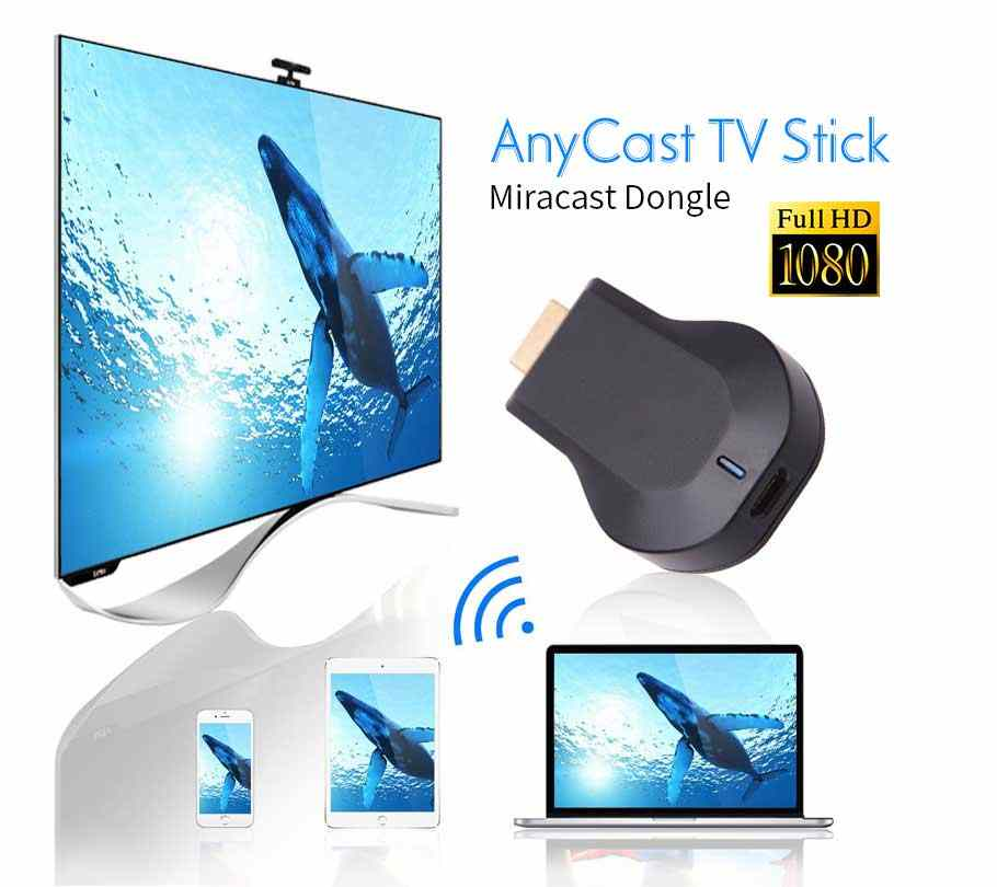 AnyCast M2 Plus tv stick dla apple tv Airplay 1080P bezprzewodowy wyświetlacz wifi odbiornik dongle tv android tv Miracast na telefon PC