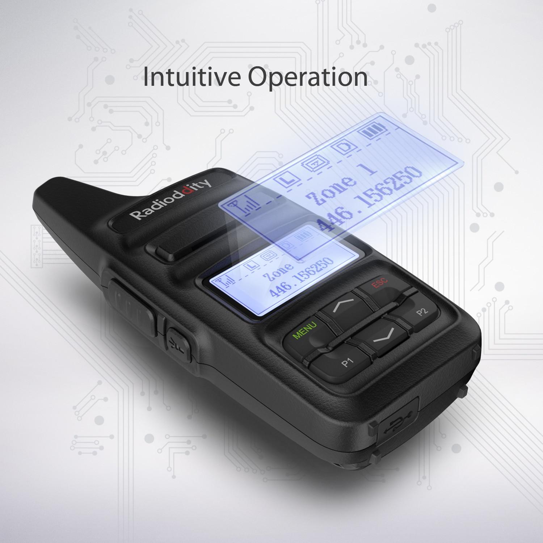 חלקי חילוף לקטנועים Radioddity GD-73 A / E מיני DMR UHF / PMR IP54 USB תוכנית & Charge 2600mAh SMS Hotspot השתמש 2W 0.5W מפתח בהתאמה אישית שני הדרך רדיו (4)