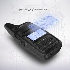 Image 4 - Radiodity GD 73 a/e mini dmr uhf/pmr ip54 usb programa & carga 2600 mah sms hotspot uso 2 w 0.5 w personalizado chave rádio em dois sentidos
