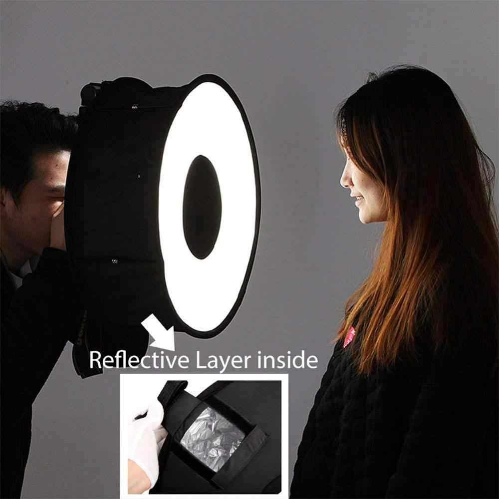 EastVita 46cm Ring Softbox Macro Ring Flash for Canon Nikon Sony 18 x 18 Inch (45 x 45 cm) Foldable Ring Diffuser/Softbox r29