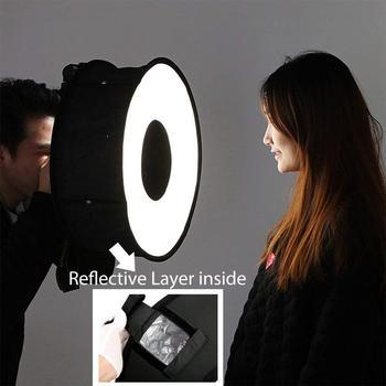 EastVita 46cm pierścień Softbox makro pierścień Flash do Canon Nikon Sony 18 #215 18 Cal (45 #215 45 cm) składany pierścień dyfuzor Softbox r29 tanie i dobre opinie Ring Diffuser Lumix Pentax 270g (45 x 45 cm)