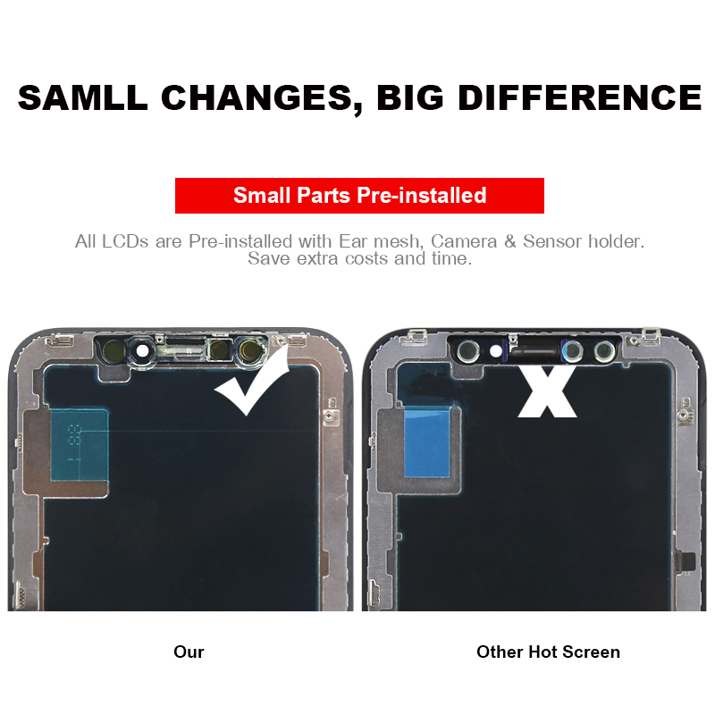 Hot For mobile phone screen for iPhone X XS XS MAX XR LCD display Assembly Replacement 100% test no dead pixel replacement