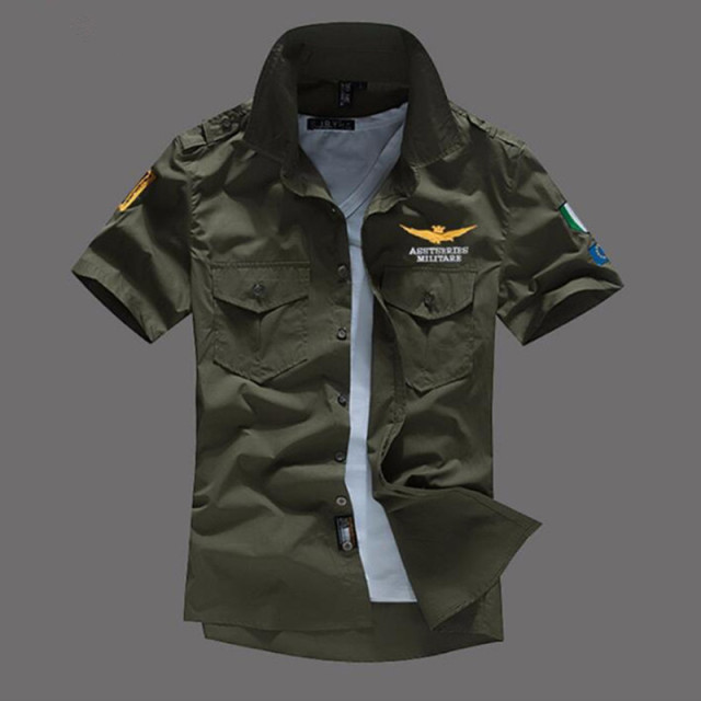 Airforce uniform military short sleeve shirts  5