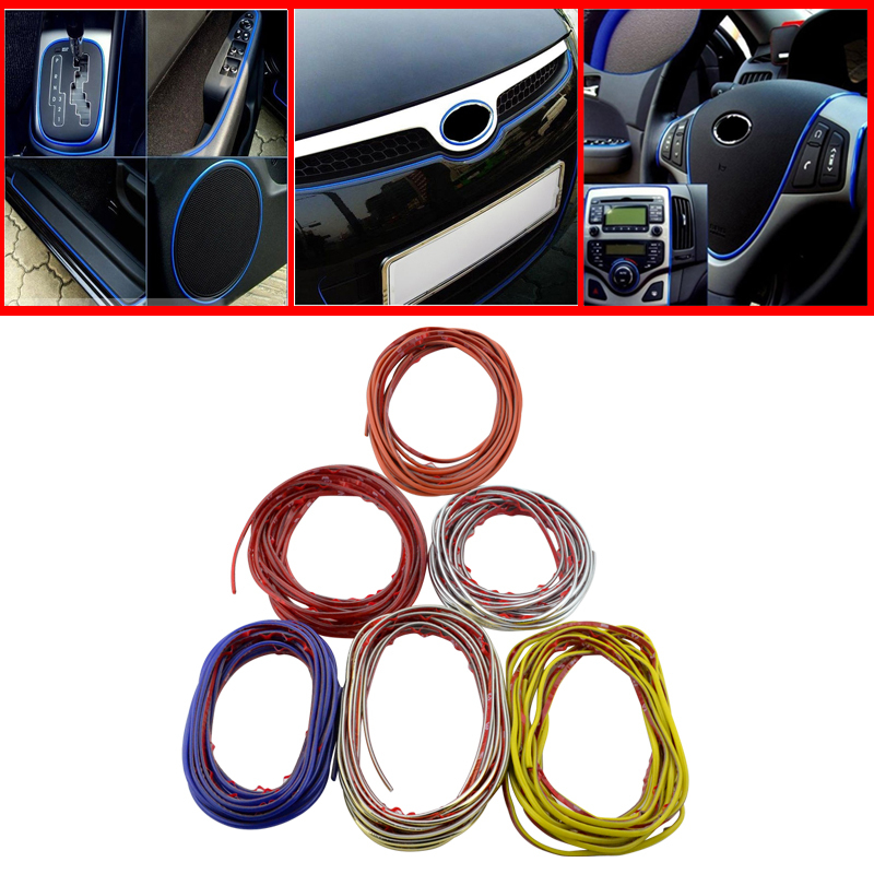5M Auto Car Sticker Stickers Decoration Thread,Car Styling indoor pater Car Interior Exterior Body Modify Decal