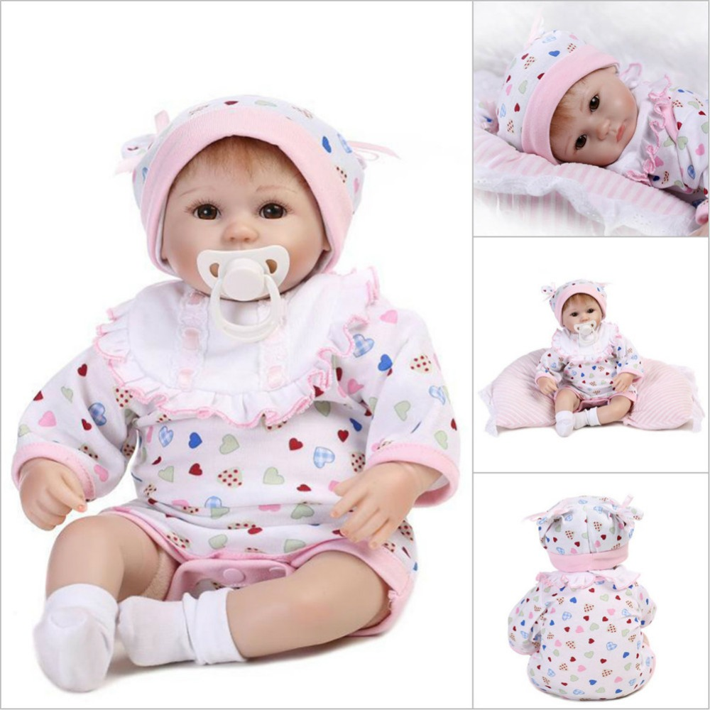 npk collection bebe reborn with silicone girl body 42 cm realistic babies reborn dolls toys for children girls with doll clothes наушники audio technica ath sr5 white
