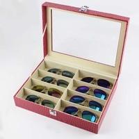 Storage Organizer Box 8 Slot Glasses Eyeglass Sunglasses Storage Case Display Stand Holder
