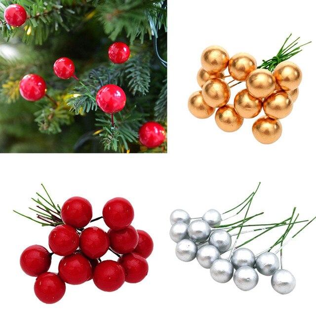 12Pcs Christmas Tree Decoration Simulation Cherry Decorative Pendant Decorations For Home Navidad 2019 C2