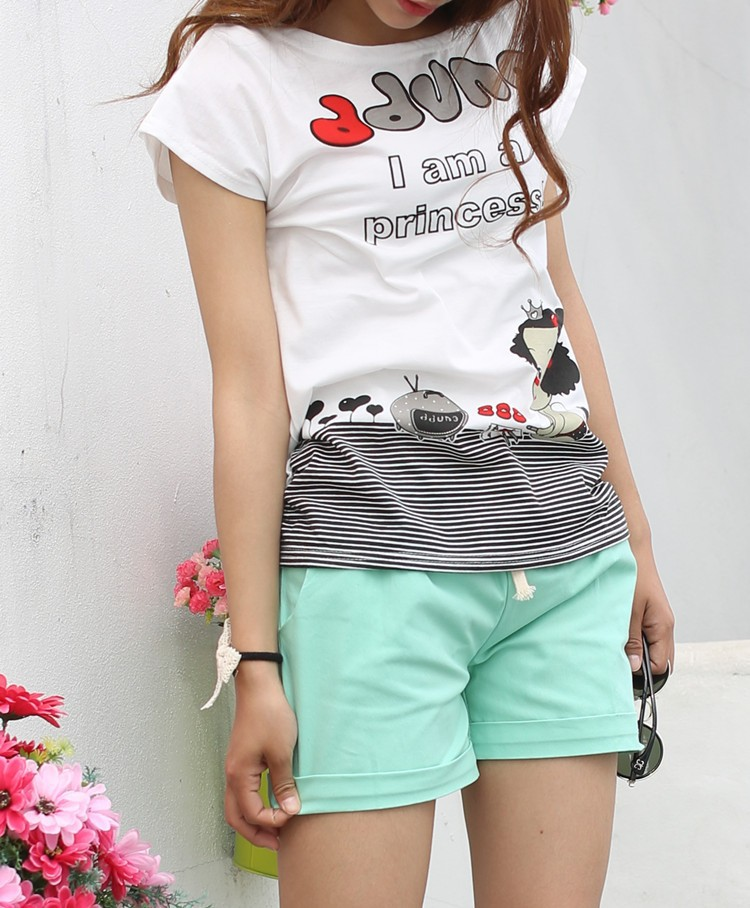 Summer Style Shorts Women Candy Color Elastic With Belt Short Women 31