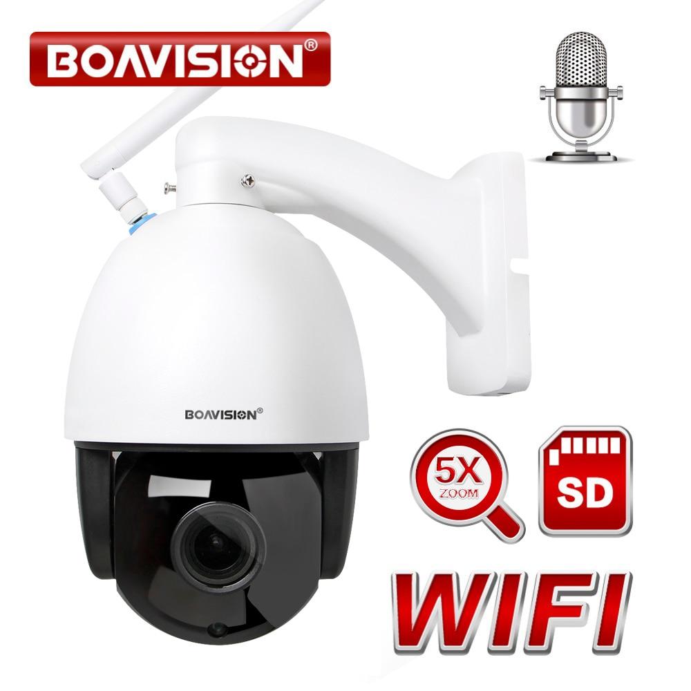 1080P Wireless PTZ Speed Dome IP Camera WIFI 5X Zoom Outdoor 960P CCTV Security Video Surveillance Camera Audio ONVIF IR 60M 4 in 1 ir high speed dome camera ahd tvi cvi cvbs 1080p output ir night vision 150m ptz dome camera with wiper