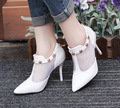 women cute high quality autumn and winter rivet high heels lady cute white casual high heel shoes zapatos hombre