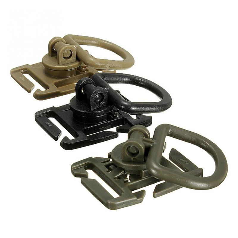 5pcs Tactical Grimlock Rotation D-ring Clips Buckle MOLLE Webbing Attachment Backpacks Locking Carabiner EDC Tool