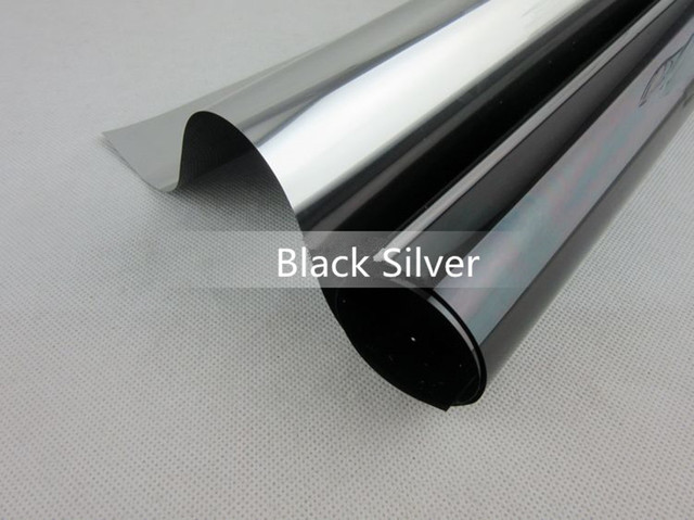 Sunice Silver&Black One way mirrored Window Tint film Home Office Glass Scratch Resistant Film privacy and heat reduction film