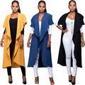 Spring Wasserfall Mantel Women's Sleeveless Vest Jacket Tops Casual Waistcoat Outerwear Cloak Coat Open Stitch With Sashes YF159
