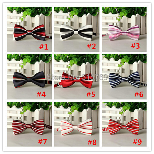 10pcs/lot Boy Adjustable Strips Bow Tie Baby Children Formal Tuxedo Bow Ties for Wedding Party Necktie Free Shipping