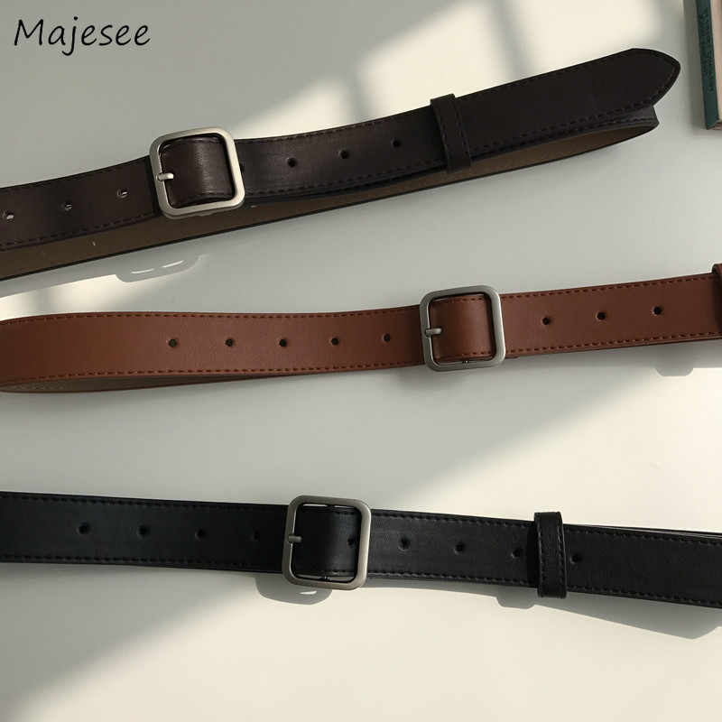 Belts Women Solid Straps Ladies Elegant Womens Simple All-match Female Chic Faux Leather Casual Fashion High-quality Daily 2019