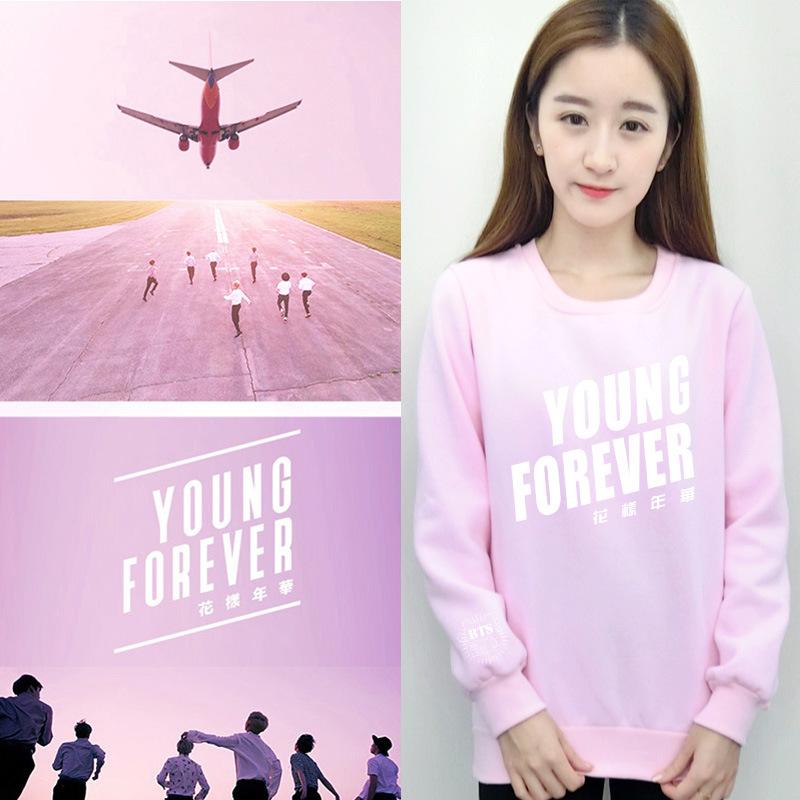 BTS-Kpop-Bullet-Proofkawaii-Loves-pink-hoodie-Women-Clothing-Young-Forever-Printing-moletom-k-pop-Sweatshirt (1)