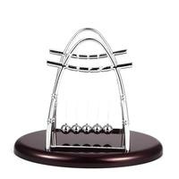 New Design Plating Newton Pendulum Stent Energy Conservation Model Pool Cradle Steel Balance Ball Physics Science Pendulum