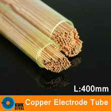 Electrode Tubes 400mm Long Copper Capillary Pipe Small Diameter Tube Pure Red Copper Electrode Material Copper CNC Process Size