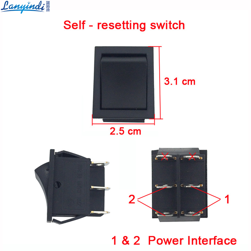 Childrens electric car various button switch,power switch,speed control ,manual/rc and self-reset switch for baby car