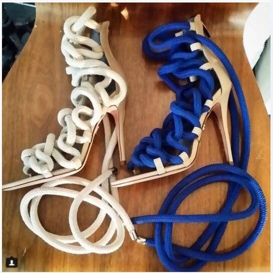Gladiator Designer Luxus Schn Up Damen Pumps Lace Sandalen Seil xrdBeCo