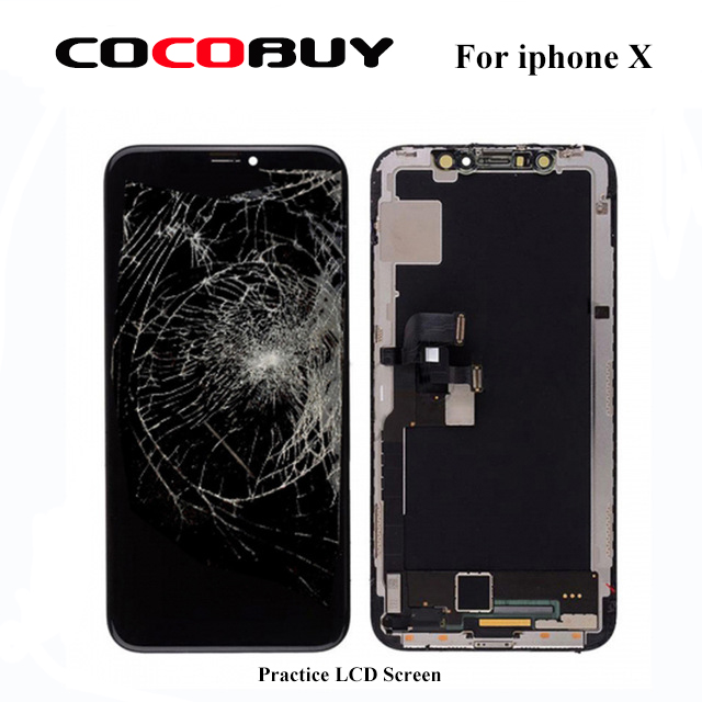 Practice LCD screen assmebly with frame for iphone X for frame and glass separating practicePractice LCD screen assmebly with frame for iphone X for frame and glass separating practice