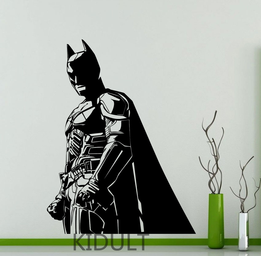 Home decoration wall stickers pattern Dark Knight Batman DC Super Heroes Wall stickers vinyl wall decals many colors wholesale