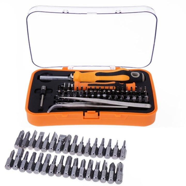 2015 Screwdriver Screw Bit Set Kit Hand Tools 58-in-1 Repair Tool High Hardness For Leptop New Bits For Mobile Phone 54  цены