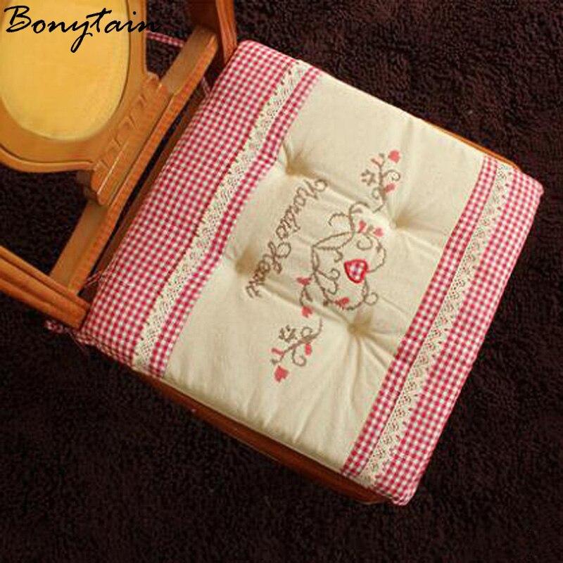 comprar comprueban cuadrado suave de algodn cojines para sillas sentarse asiento sof alfombra oficina en casa decorativa almohada cojn de