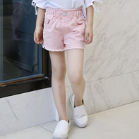 Summer Wear New Product Girl Wash Pink Colour White Black Cowboy Shorts Tight Tassel