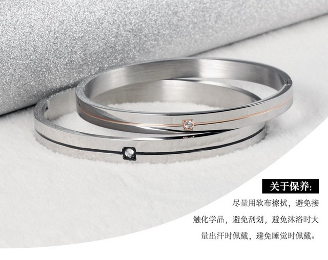 Браслет из титановой стали простые циркониевые браслеты подарки