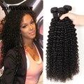 10A Grau Cabelo crespo crespo indiano Cabelo Virgem Encaracolado Kinky Indiano 3 Ofertas Bundle Indiano Afro Kinky Curly Virgin Cabelo Humano Weave
