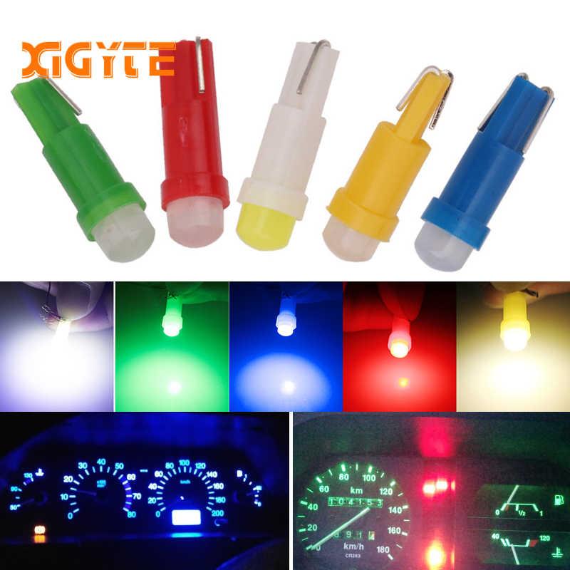 1 pièces T5 COB voiture tableau de bord instrument de lumière Automobile porte Wedge jauge lecture lampe ampoule voiture style blanc bleu 12 V voiture style