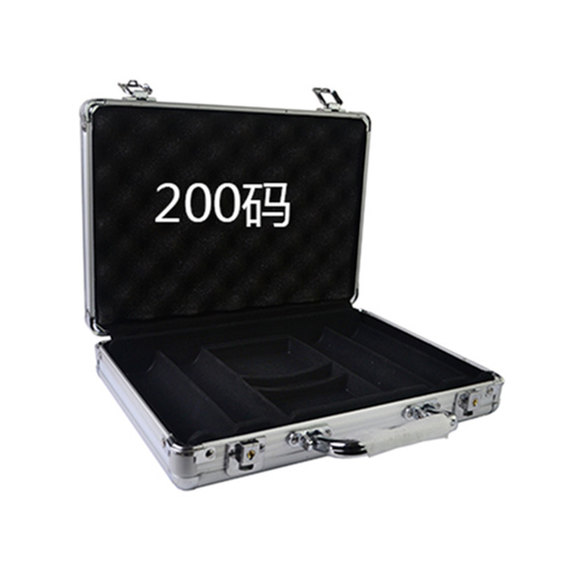 Wholesale retail high-grade professional aluminum chip boxes 200 code yard chips poker coin carrying case pk 8001 200pcs chip set 13 5g per chip include 200pcs chips with one aluminum case free shipping