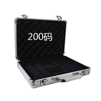 Wholesale retail high-grade professional aluminum chip boxes 200 code yard chips poker coin carrying case