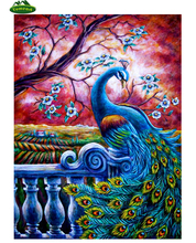Beautiful Peacock Animal Music Unfinished Diy 5D Cross Stitch Kits Full Square Diamond Mosaic Embroidery Home Decor Pictures