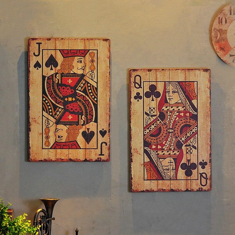 1 pièces nouveau rétro vent industriel en bois cartes à jouer 40 cm * 1 cm * 60 cm - 4
