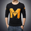 5XL Brand Clothing 2017 Fashion Men T Shirt Long Sleeve Slim Fit Tshirt Homme Round Collar Tees Tops Printing Mens T-Shirt