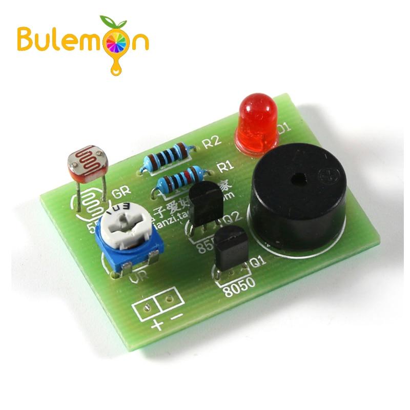 Photosensitive Sound Light Alarm DIY Kit Electronic Production Invention Assembly Sound and Light Sensor Module Device Suite