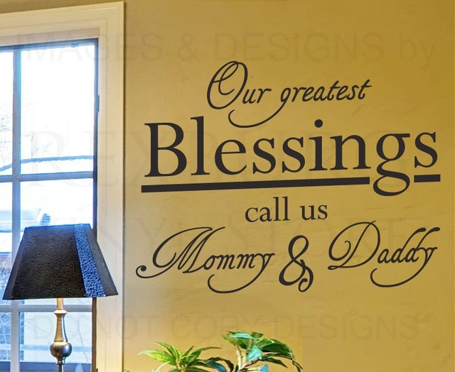 Wall Decal Quote Sticker Vinyl Art Our Greatest Blessings Mommy and ...