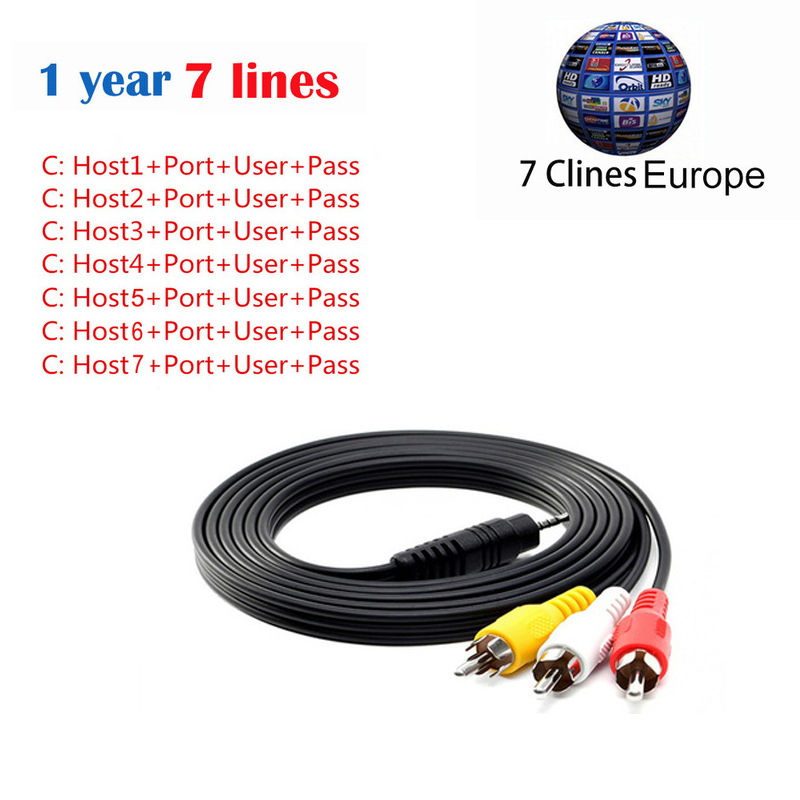 TV Cable Cccam lines Europe 7 Clines For v8 Satellite TV Receiver DVB-S2 Support Cccams  ...