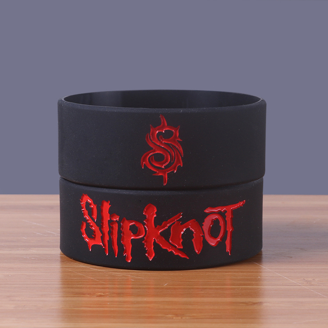 Wide Version Slipknot Band Silicone Bracelets Heavy Metal Rock Silicon Wristband Cool Fashion Item Por Jerwerly
