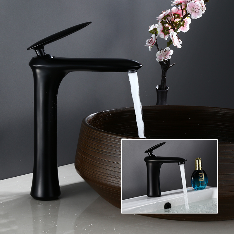 Sink Faucet Black Bathroom Faucet Single Handle Hot Cold Switch Water Mixer Tap Wash Basin Bathroom Deck Mounted Basin FaucetSink Faucet Black Bathroom Faucet Single Handle Hot Cold Switch Water Mixer Tap Wash Basin Bathroom Deck Mounted Basin Faucet