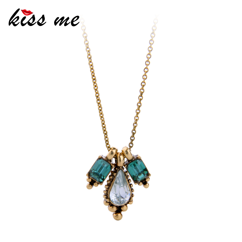KISS ME Simple Fashion Water Drops Anheng Halskjede 2017 Women Necklace Tilbehør