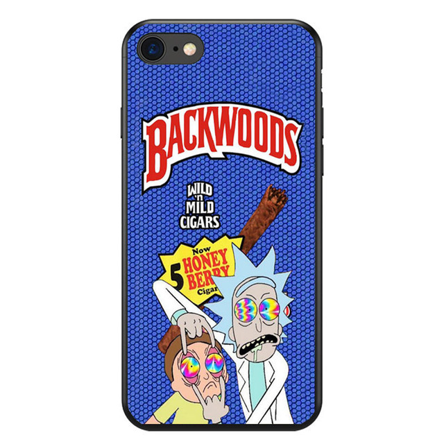 rick and morty backwoods soft Silicone phone case for iPhone 8 7 6 6S Plus X XS MAX XR 10 5S SE Samsung S7 S8 Edge Plus cover