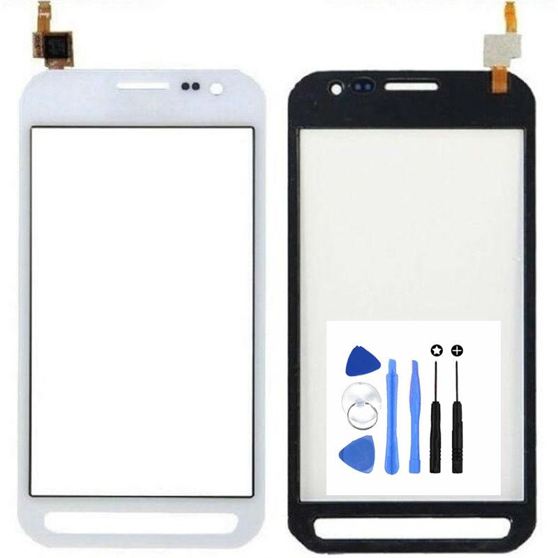 Hitam/Putih Sentuh Layar Digitizer untuk Samsung Galaksi Xcover 3 G388 G388F Ponsel Sentuh Layar (Bebas + 3 M Tape + Membuka Alat Perbaikan + Lem)