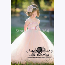 BU Lovely Cap Sleeves Ball Gown Princess Dresses Flower Girl Dresses Little Girl Party Dresses Vestido