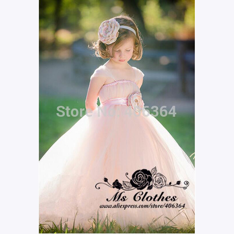BU Lovely Cap Sleeves Ball font b Gown b font Princess Dresses Flower font b Girl
