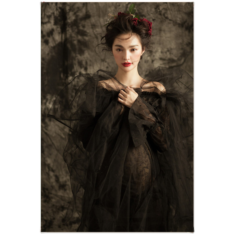 ФОТО Women Black Maternity Photography Props Elegant Pregnancy Clothes Maternity Dresses For pregnant Photo Shoot Clothing